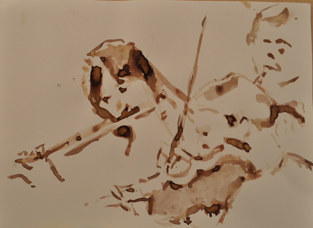 Lina Andonovska rehearses with Southbank Sinfonia, Ink. For sale contact Victoria