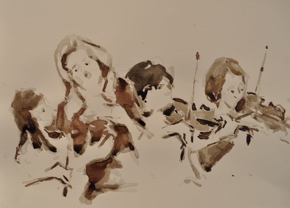 Southbank Sinfonia rehearsals, Ink. For sale contact Victoria