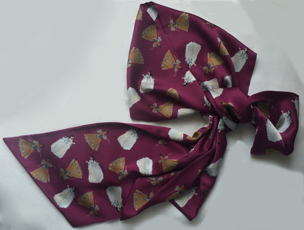 The Duet ribbon scarf