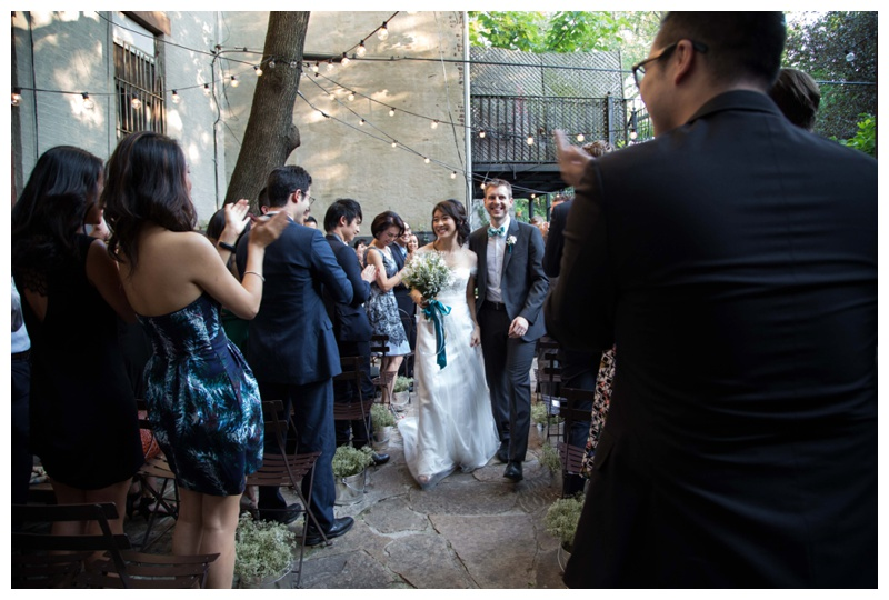 Jocelyn & Andre's Brooklyn Wedding at ICI. Images by Taylor Barker, assitant to Kamila Harris, on July 11, 2015