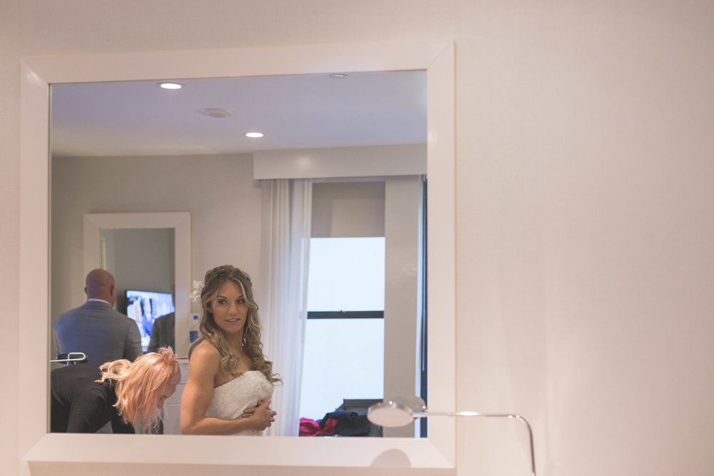 New York City elopement getting ready