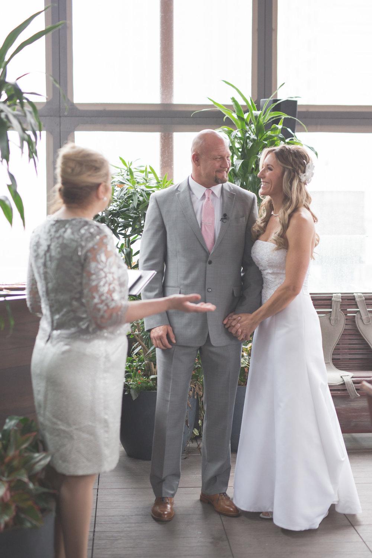 New York City elopement bride and groom