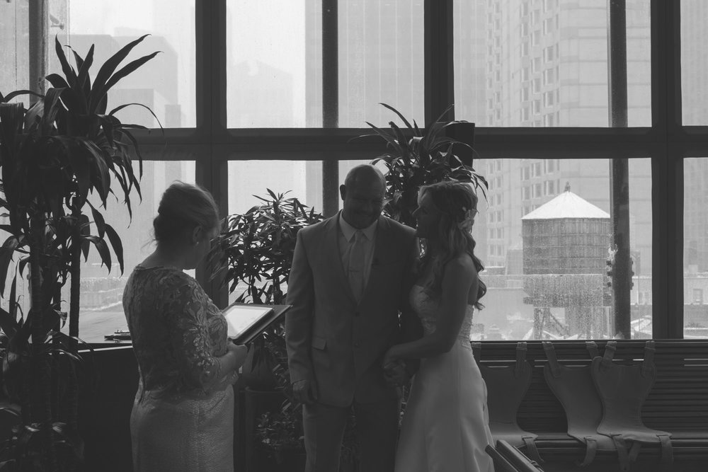 New York City elopement ceremony