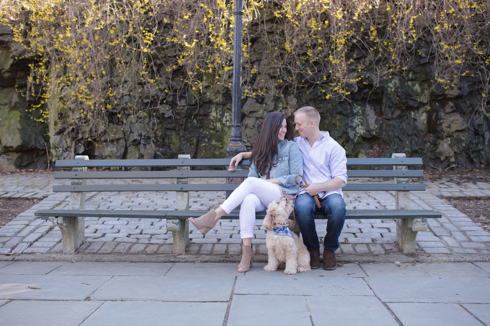 Alex & Alec - Carl Schurz Park engagement session