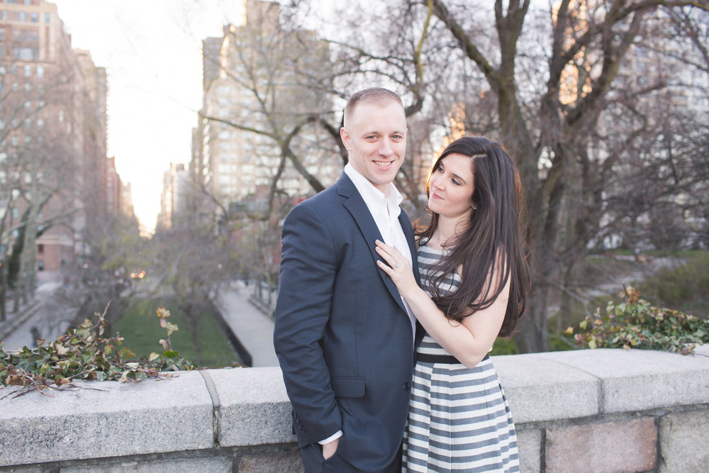 Alex & Alec - NYC champagne engagement session