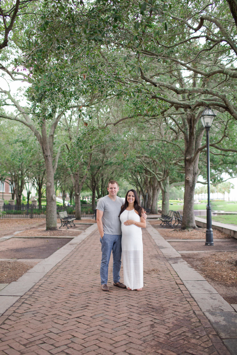 This is one of my favorite images from Chris and Lauren's session. The trees downtown, near the pineapple fountain in Waterfront Park, are just perfection!