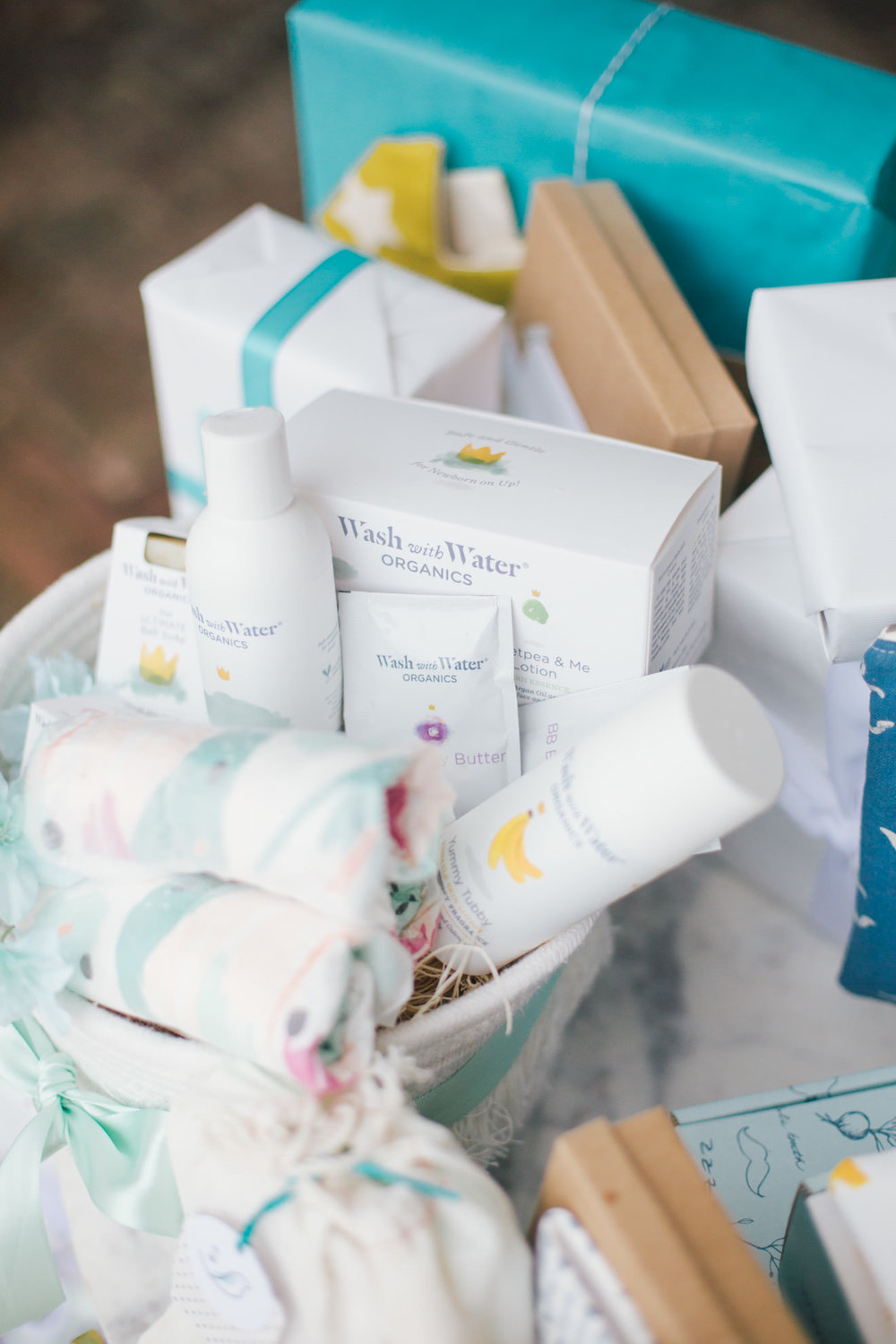 Cannon Green downtown Charleston baby shower wash with water