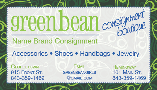 Green Bean Business Card