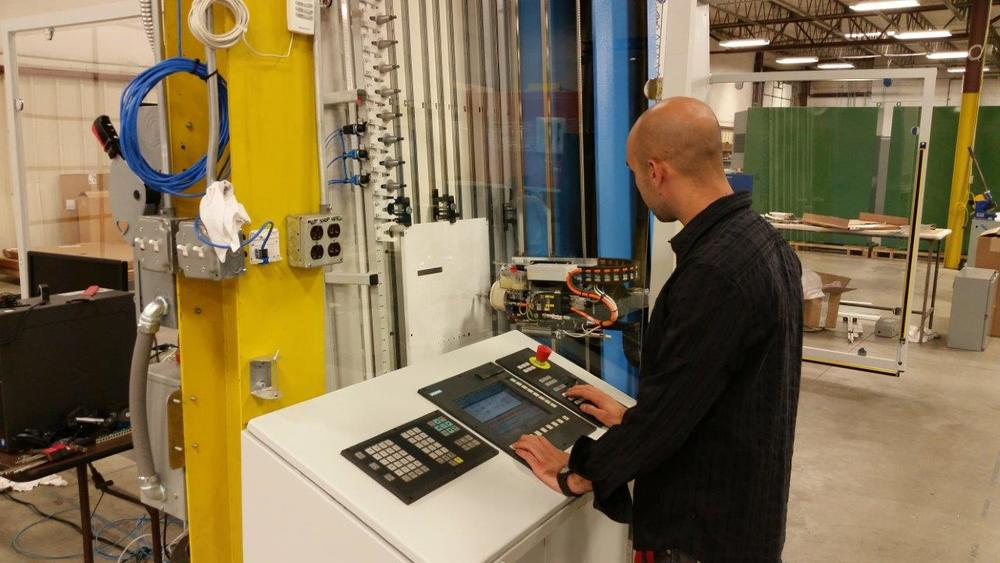 UCEC's Zach Fothergill learned this month during the training sessions how to do advanced programming on the MC80.