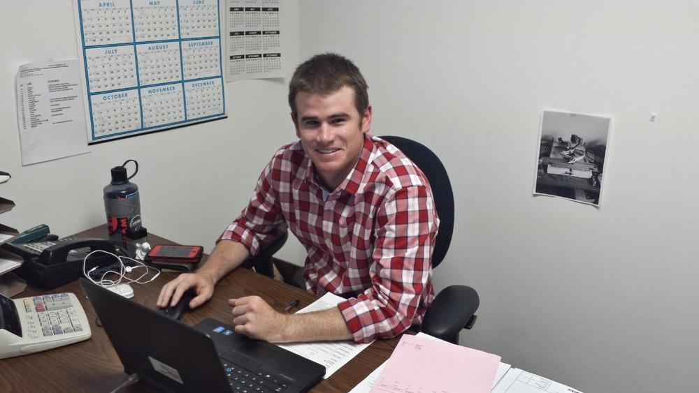 Rexel employee Kirk Magnuson at UCEC headquarters.
