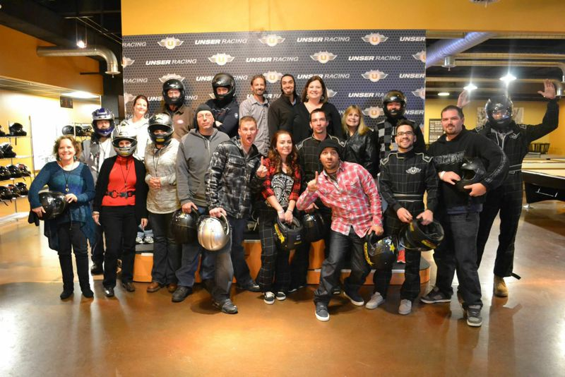 The UCEC team revs up with kart racing after hours.