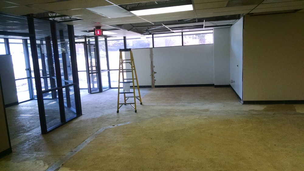 Afterdemo view of entry and new waiting area.