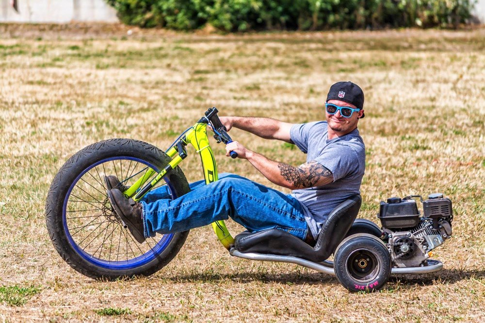 David Ferrara takes the drift trike out for a spin.