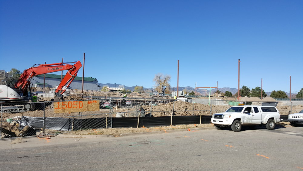 The building site is on Joyce Drive and West 64th Avenue in Arvada, Colorado.
