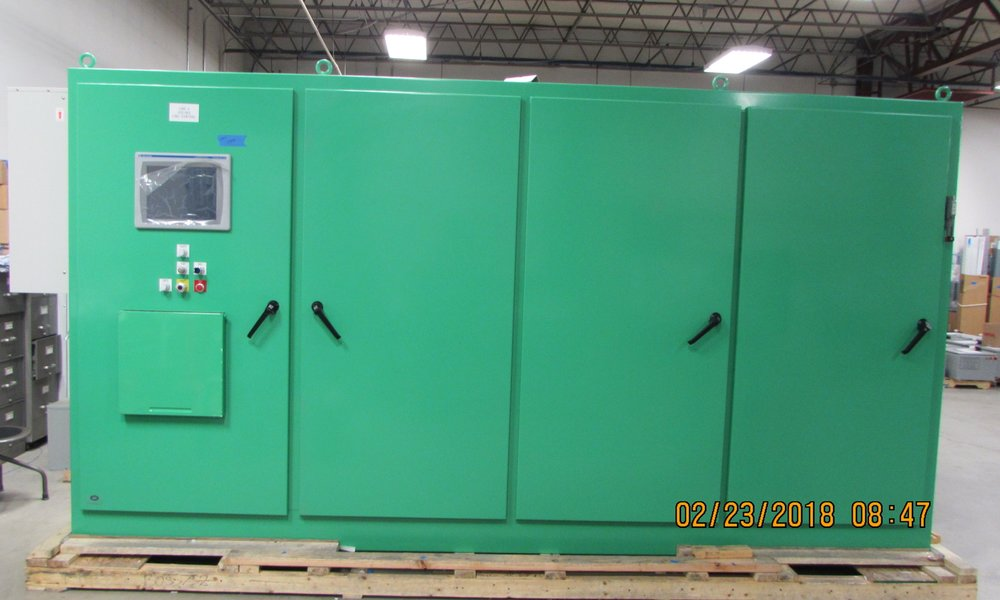 A Four Bay Conveying Panel for the Food and Beverage Industry