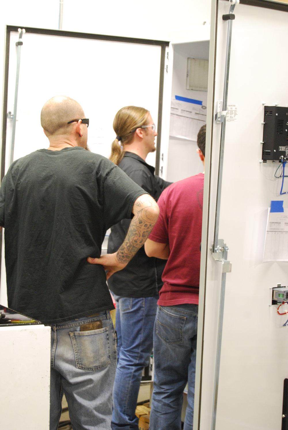 examining control cabinets