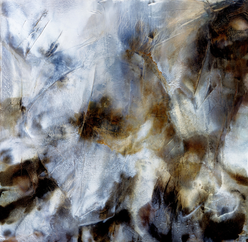 "LUMINESCENCE 48""X48"" 2000 Oil on Mixed Media LUCINDA WHARTON"