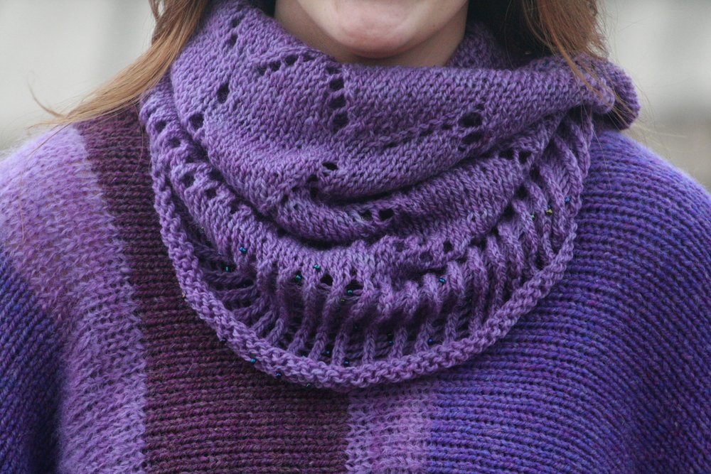 "Our ""Wimple"" can be worn as a head cover, or as a cowl, (infinity scarf)."