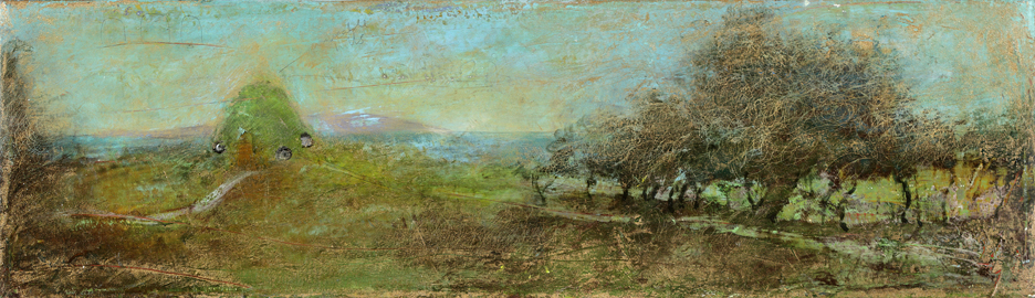 Moveable Hills , 2010  oil on canvas, 6 x 20 inches