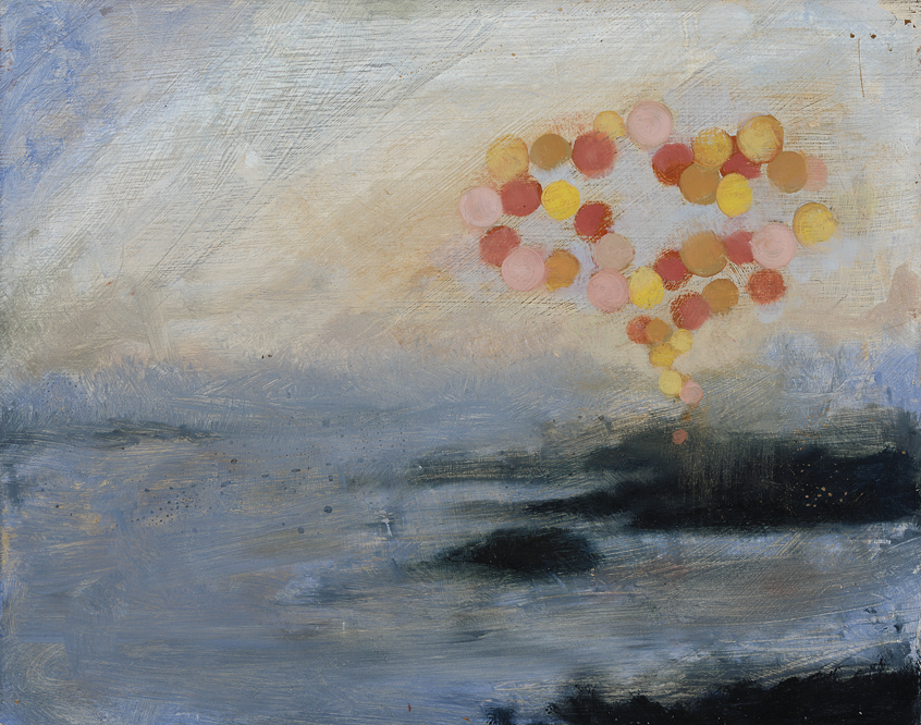 Cloud-Seeding,  2012  oil on panel, 8 x 10 inches