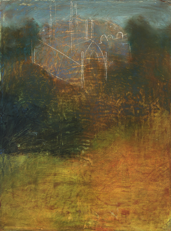 The Magical Outline of the World,  2012  oil on canvas, 12 x 9 inches