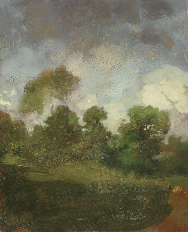 The Wooded Cove, study,  2012  oil on panel, 10 x 8 inches