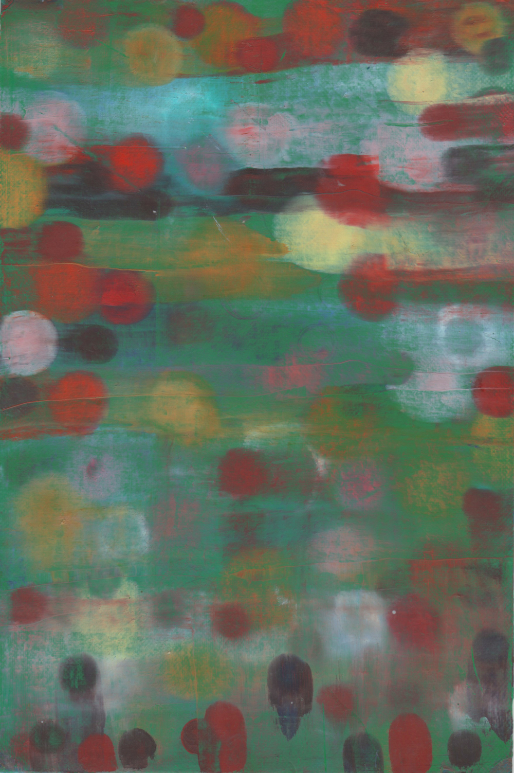 untitled 9,  2010  oil on paper, 9 x 5 in
