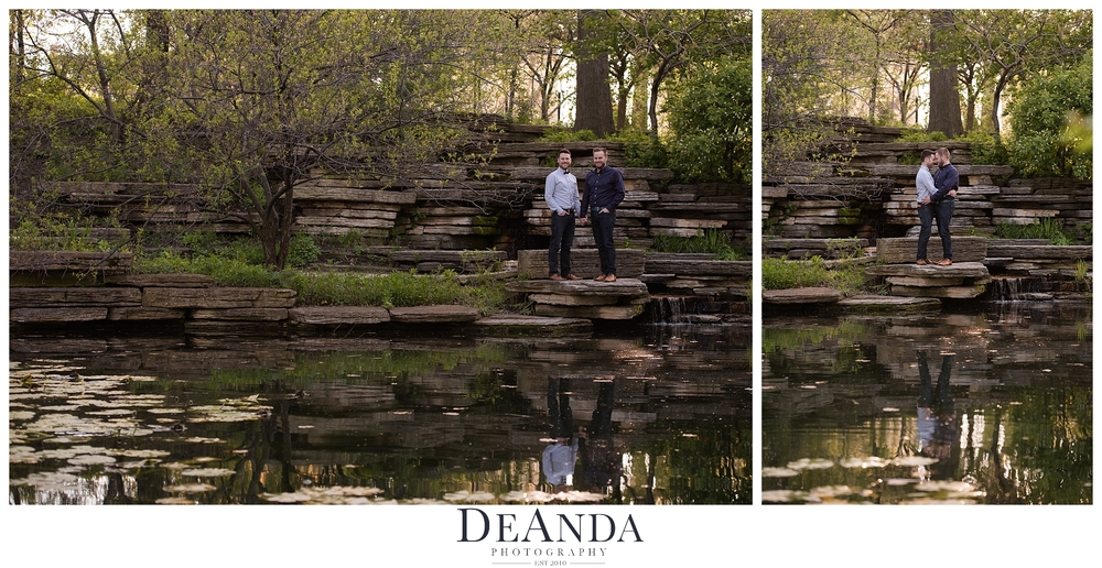 Lily Pond Engagement Same Sex Couple