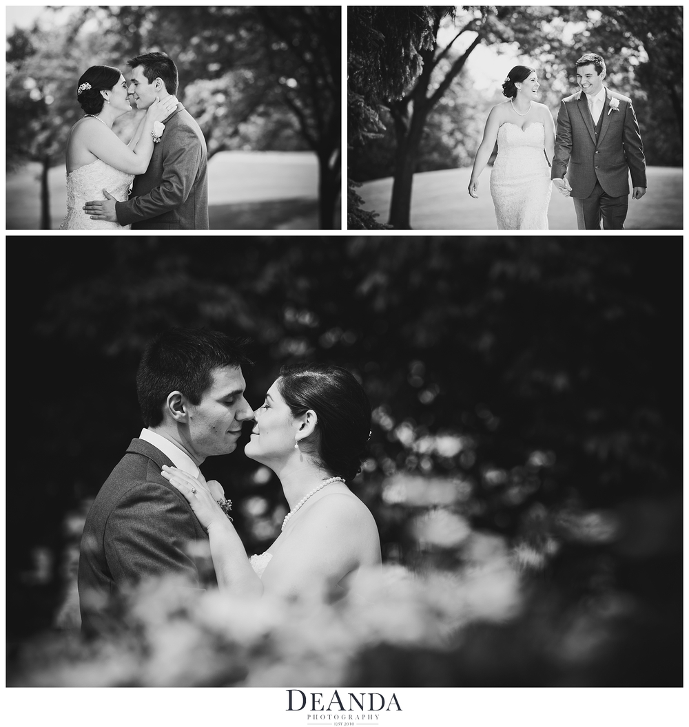 black and white images of bride and groom together