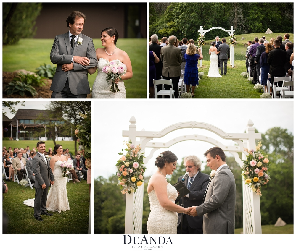 oak brook bath and tennis club wedding ceremony