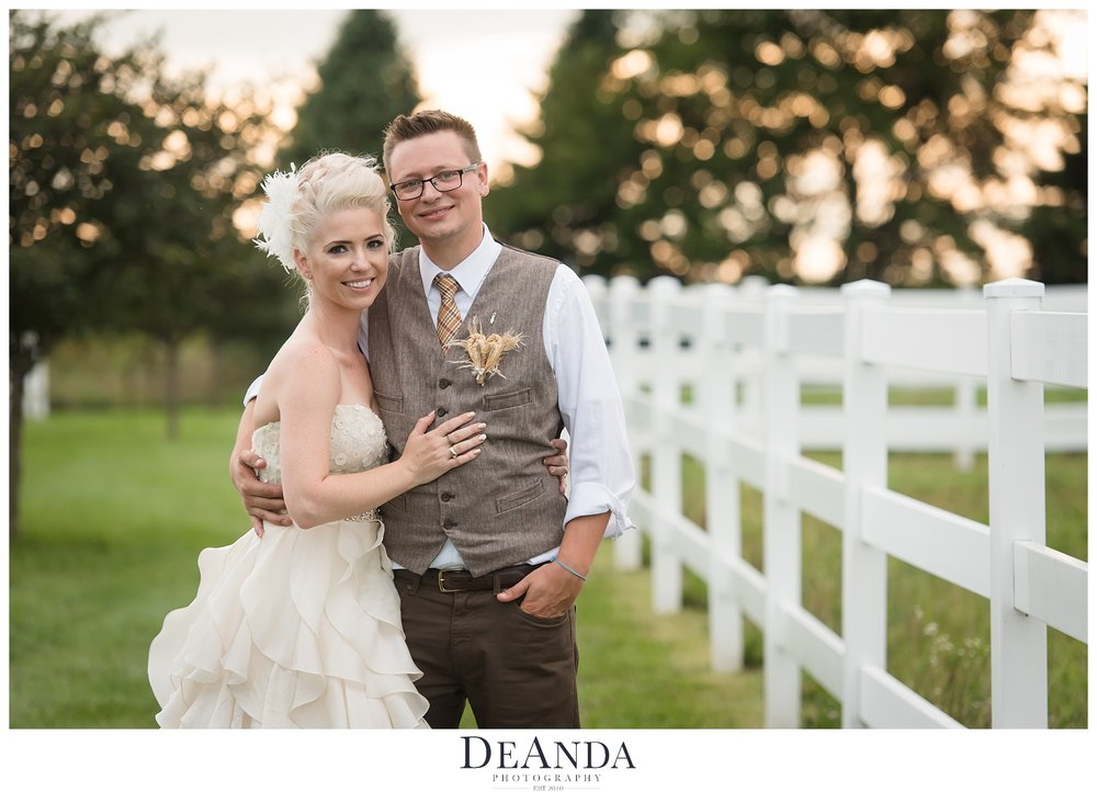Wedding Couple on Farm