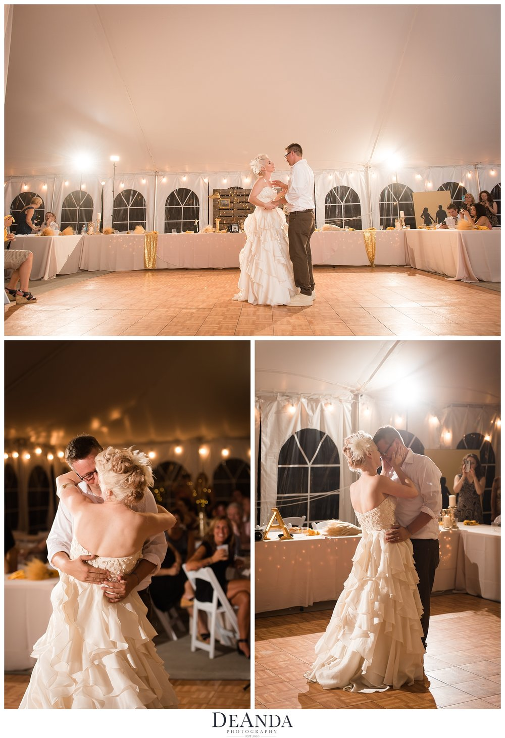 First Dance in white tent
