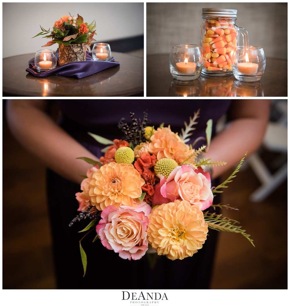 wedding details at the tribune tower