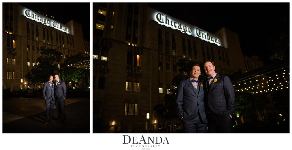 outdoor images night photography two grooms gay wedding
