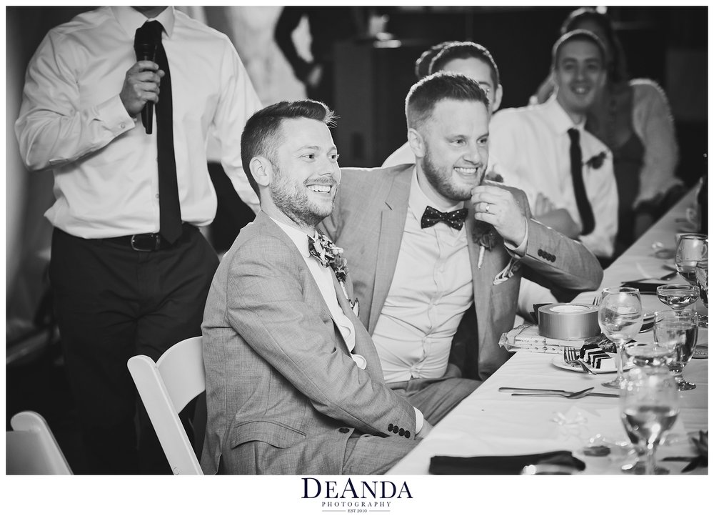grooms laughing photojournallism