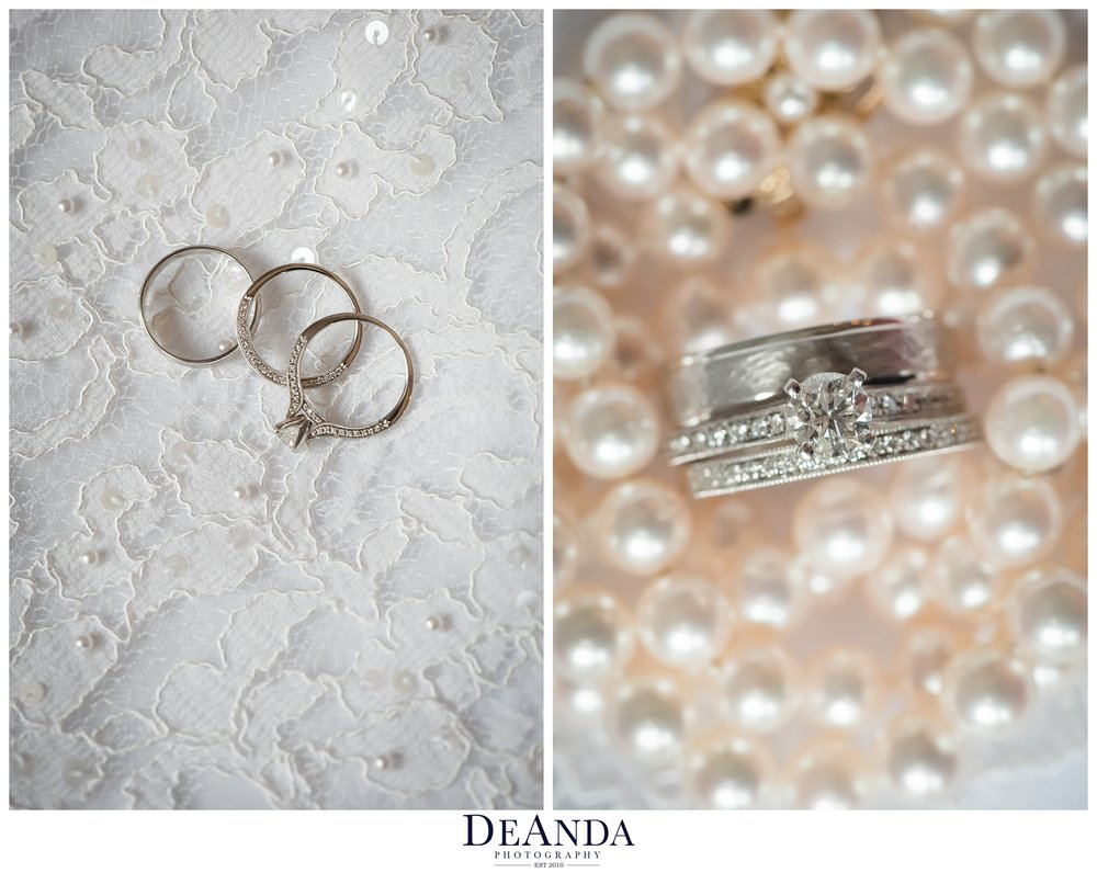 two brides wedding rings details