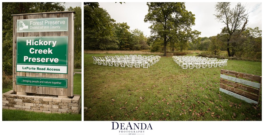 hickory creek forest preserve mokena wedding
