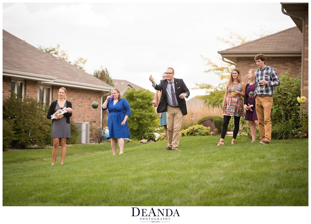 lawn games at wedding idea