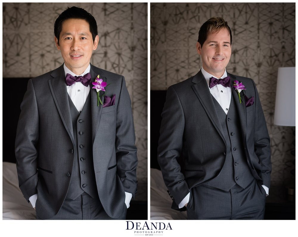 two grooms all ready to get married