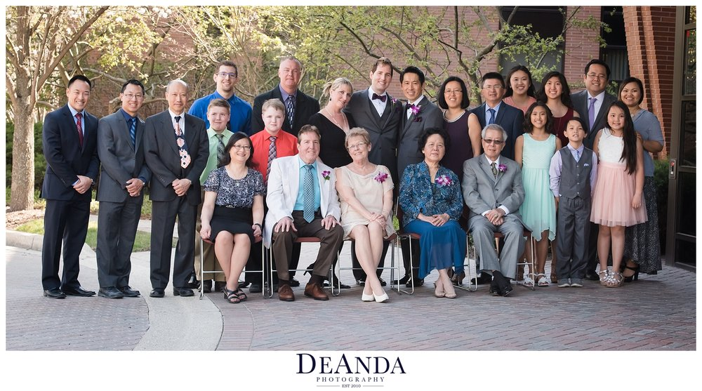 family formal photos of same sex wedding in chicago