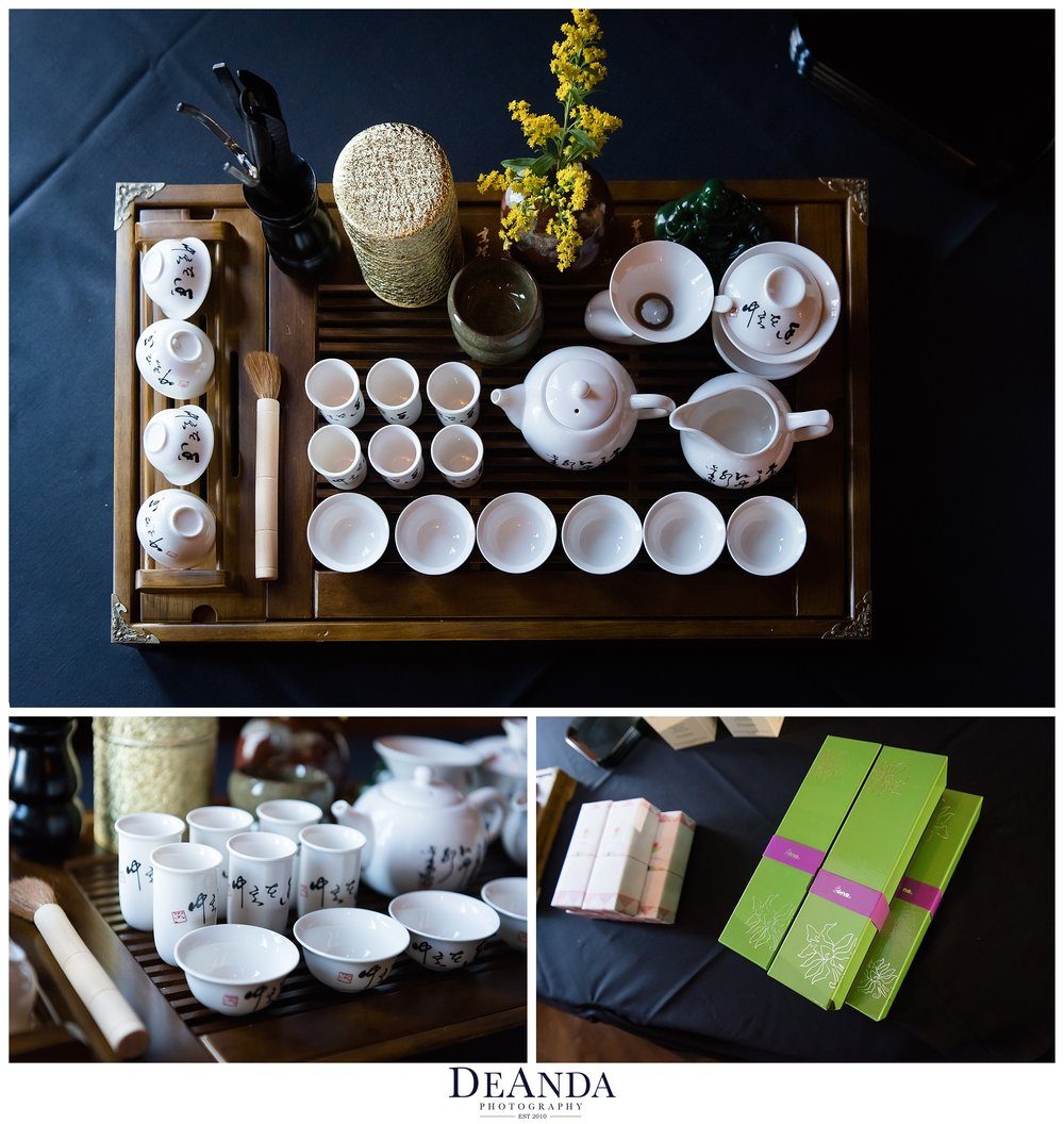 tea set for wedding