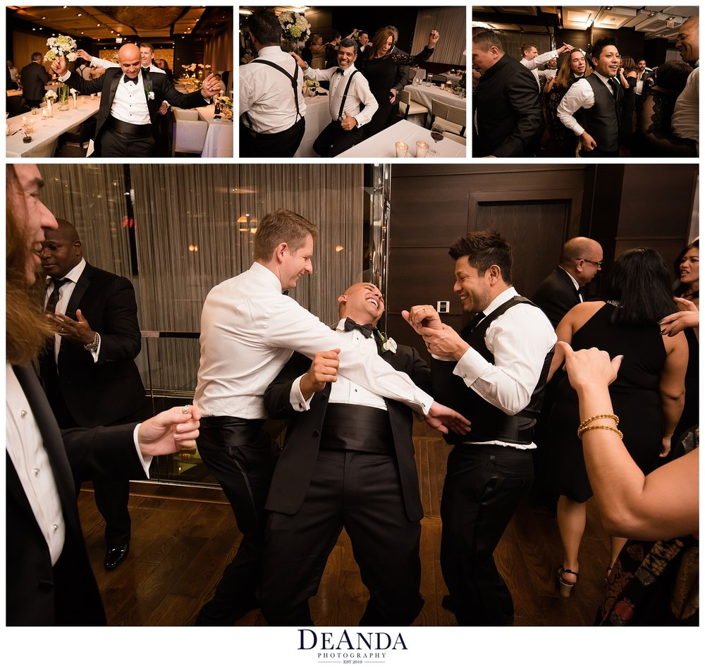 open dance floor at gay wedding in chicago the wit