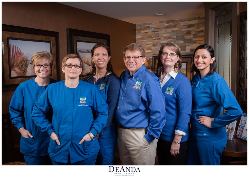 Group shot of a dental practice
