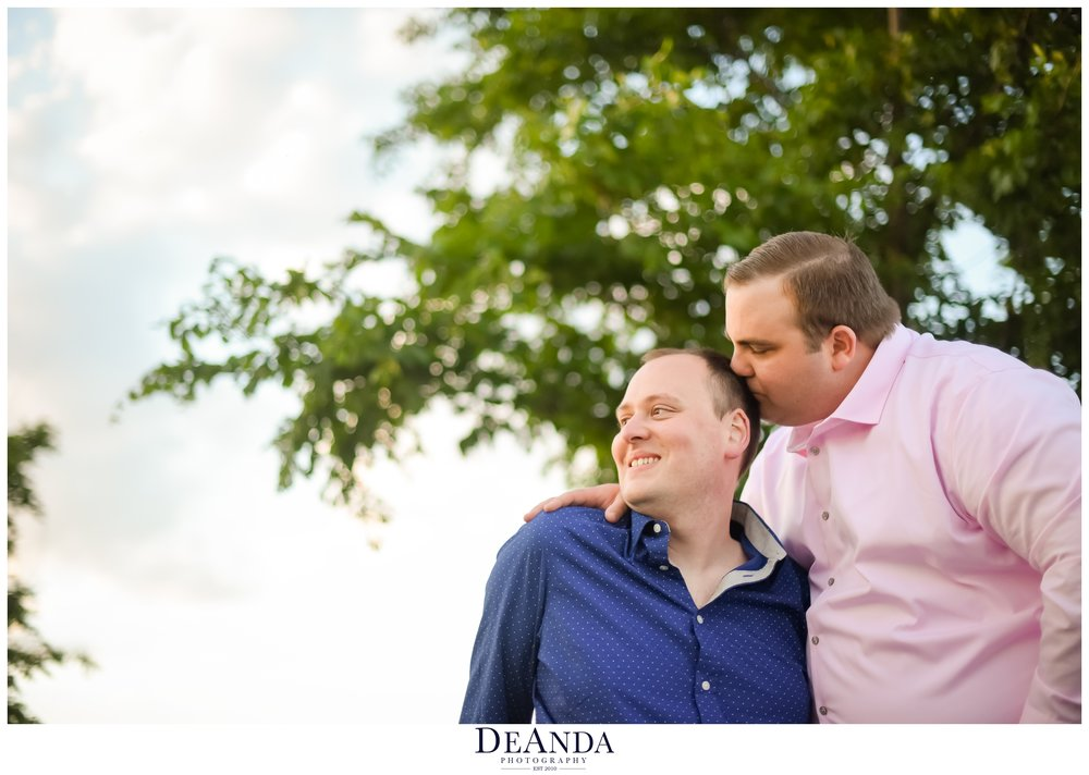 Chicago engagement photos of gay couple