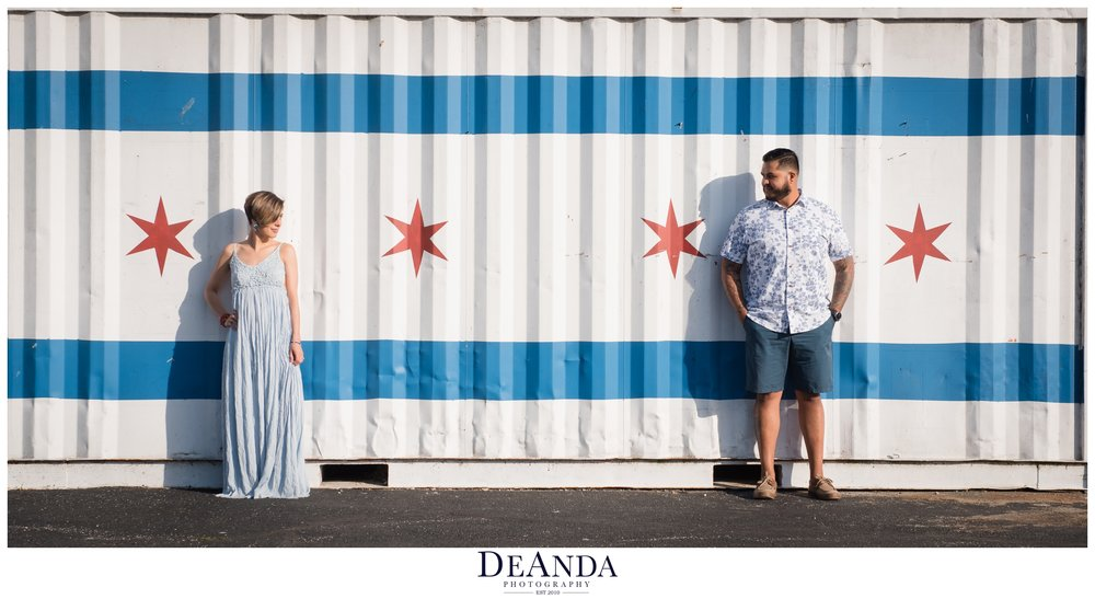 chicago Flag engagement photos