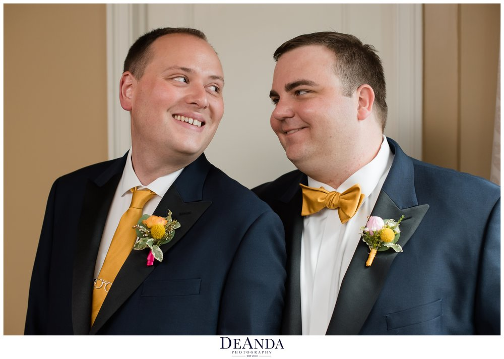 grooms together on gay wedding in chicago