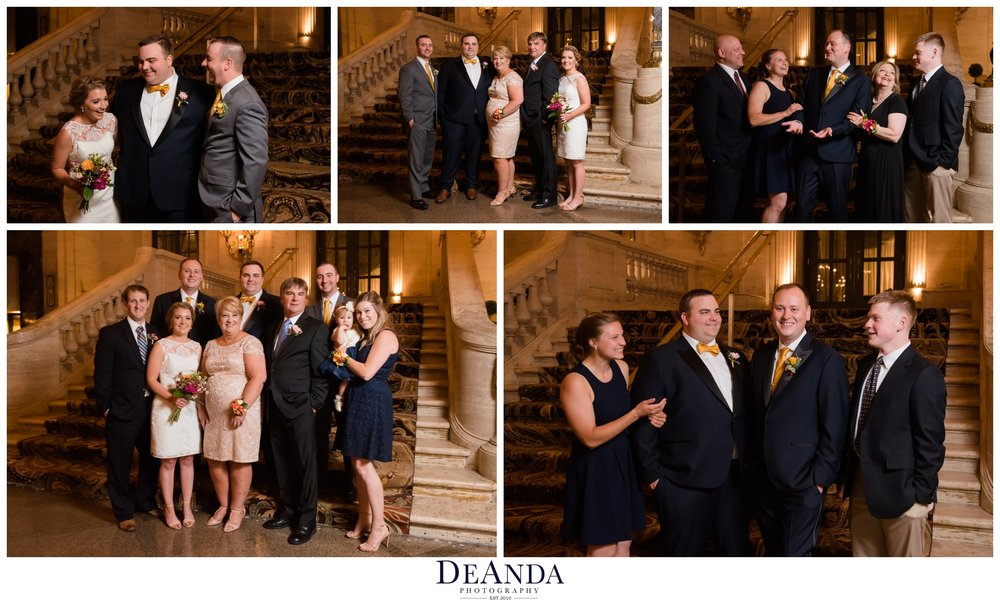 grooms family formal photos at same sex wedding in chicago