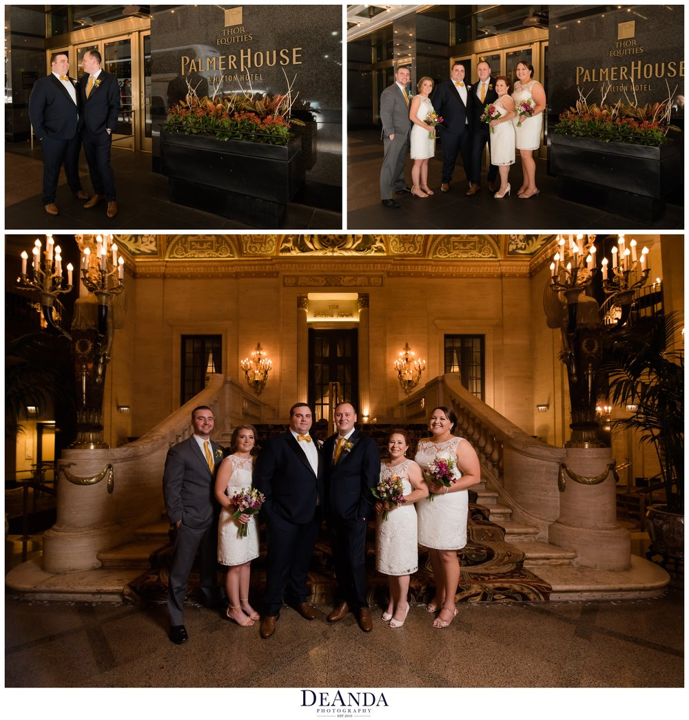 palmer house hotel wedding in chicago