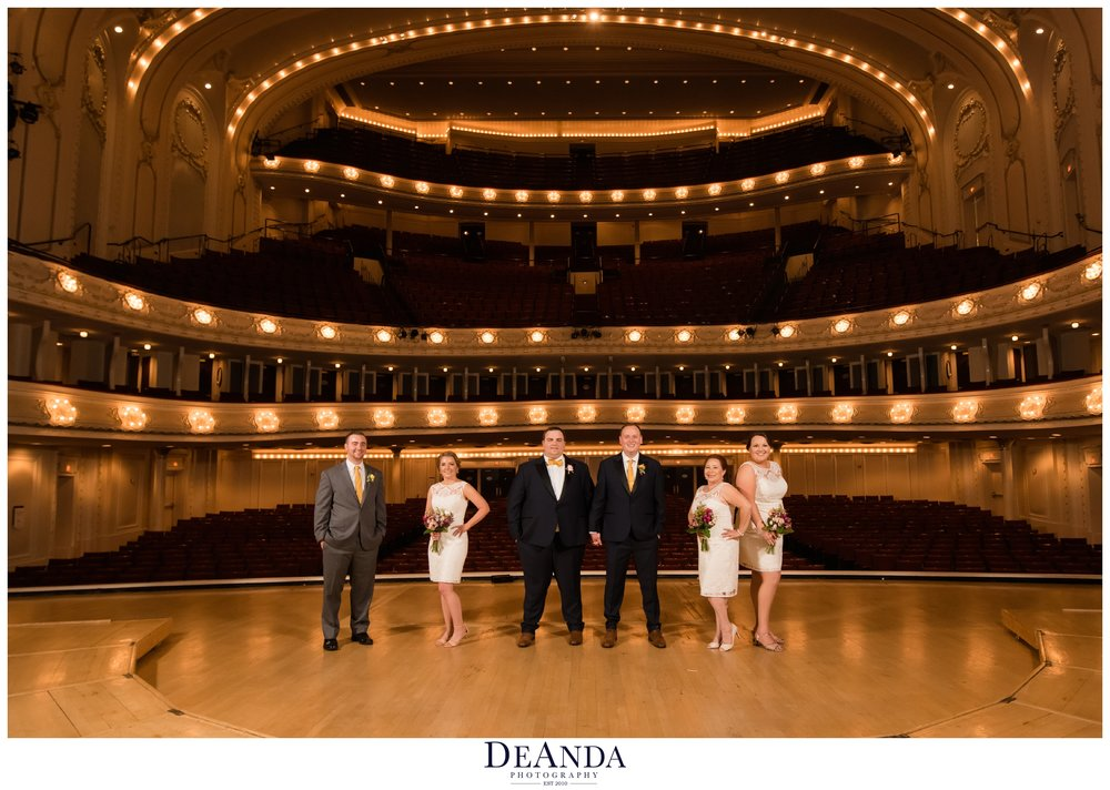 symphony center Chicago wedding on stage