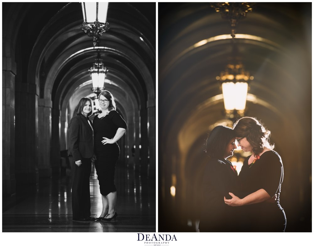 two brides at downtown Chicago courthouse